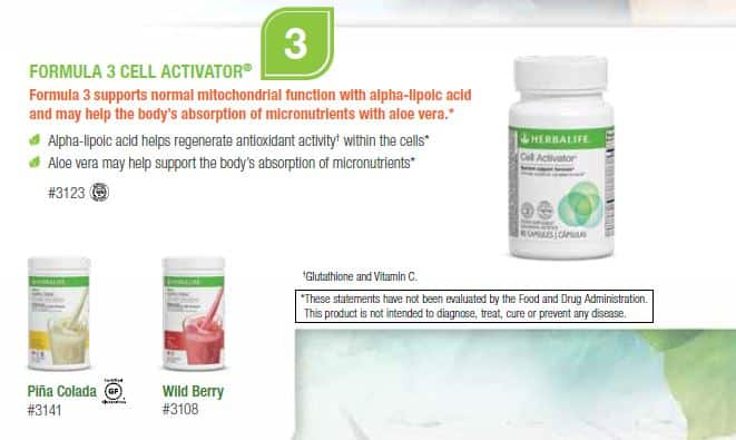 03 - Herbalife Formula 3 Cell Activator