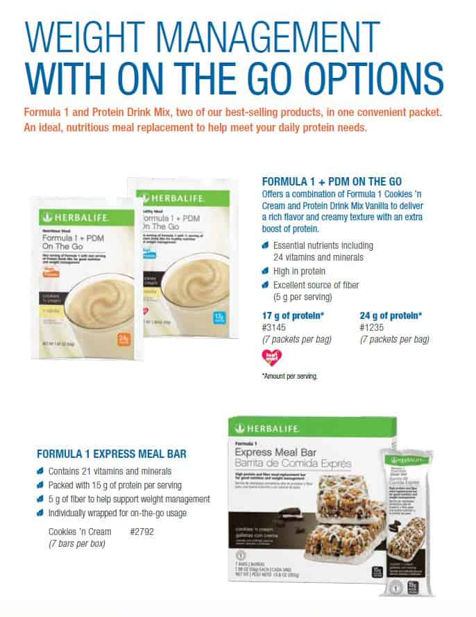 14 - Herbalife Formula 1 PDM ON The Go, Herbalife 1 Express Meal Bar