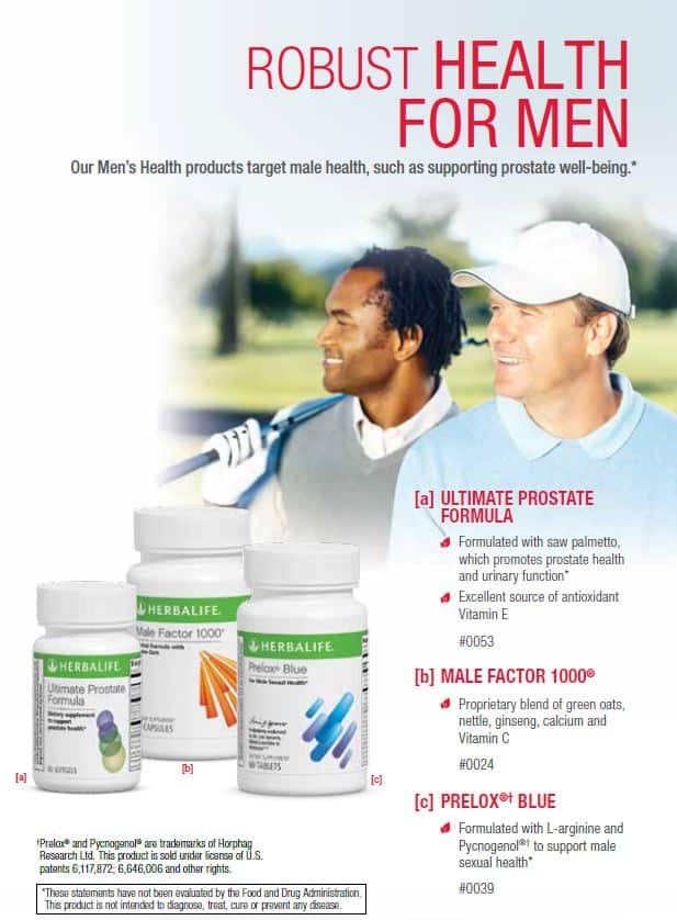 28 - Herbalife Ultimate Prostate, Herbalife Male Factor 1000, Herbalife Prelox Blue