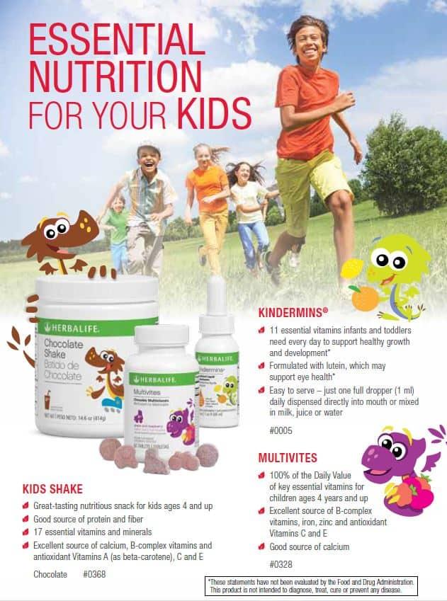 29 - Herbalife Kids Shake, Herbalife Kindermins, Herbalife Multivites