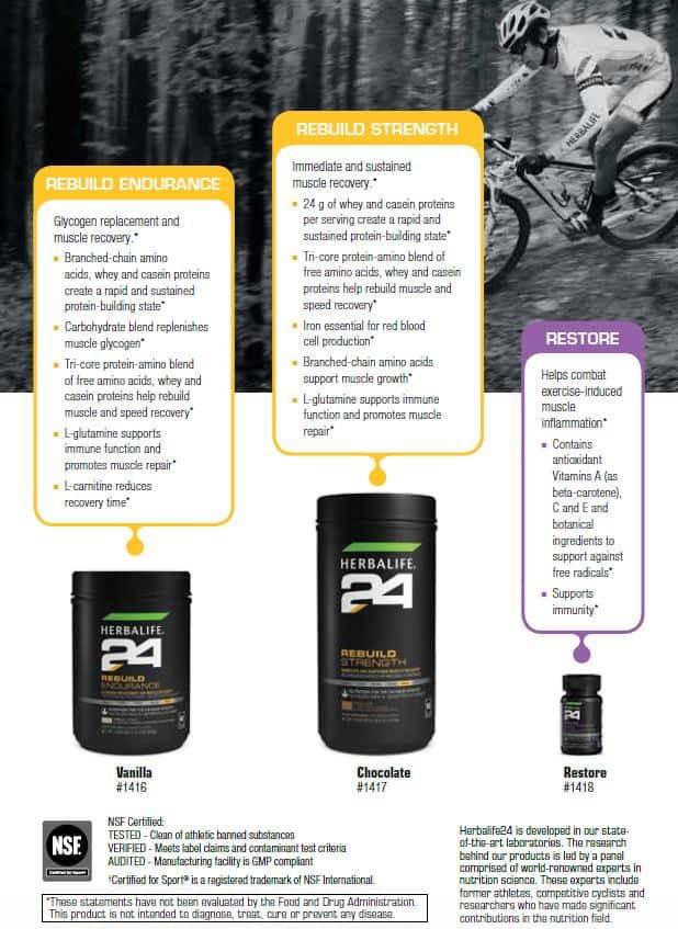32 - Herbalife Rebuild Endurance, Herbalife Rebuild Strength, Herbalife Restore