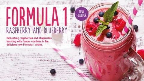 Formula 1 Shake Raspberry and Blueberry