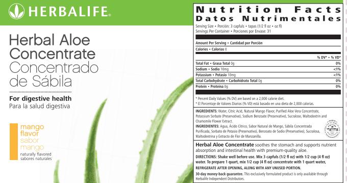 Aloe Vera - Herbal Aloe Concentrate Pint Mango