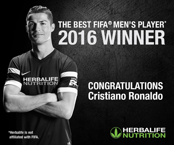 Cristiano Ronaldo Best FIFA Men's Player 2016