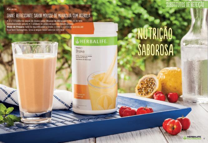 café da manhã - Shake Herbalife