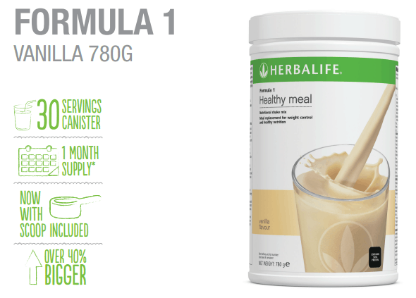 FORMULA 1 VANILLA 780G– Order Herbalife