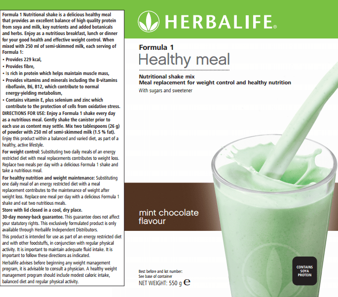 Formula 1 Healthy Meal Mint Chocolate Flavour