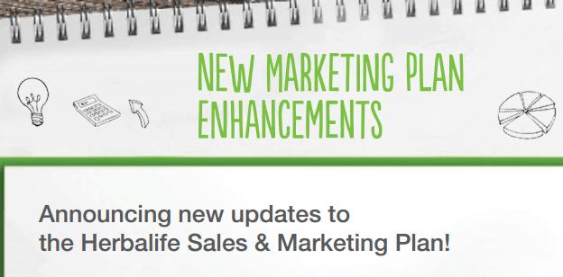 NEW Marketing Plan Enhancements– Order Herbalife