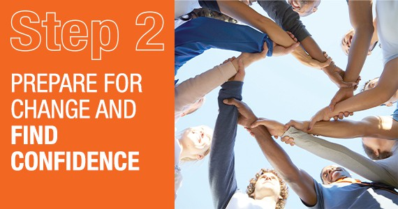 STEP 2 - Prepare for change and find confidence